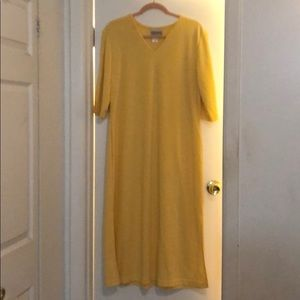 Coldwater Creek yellow long dress in size PL.